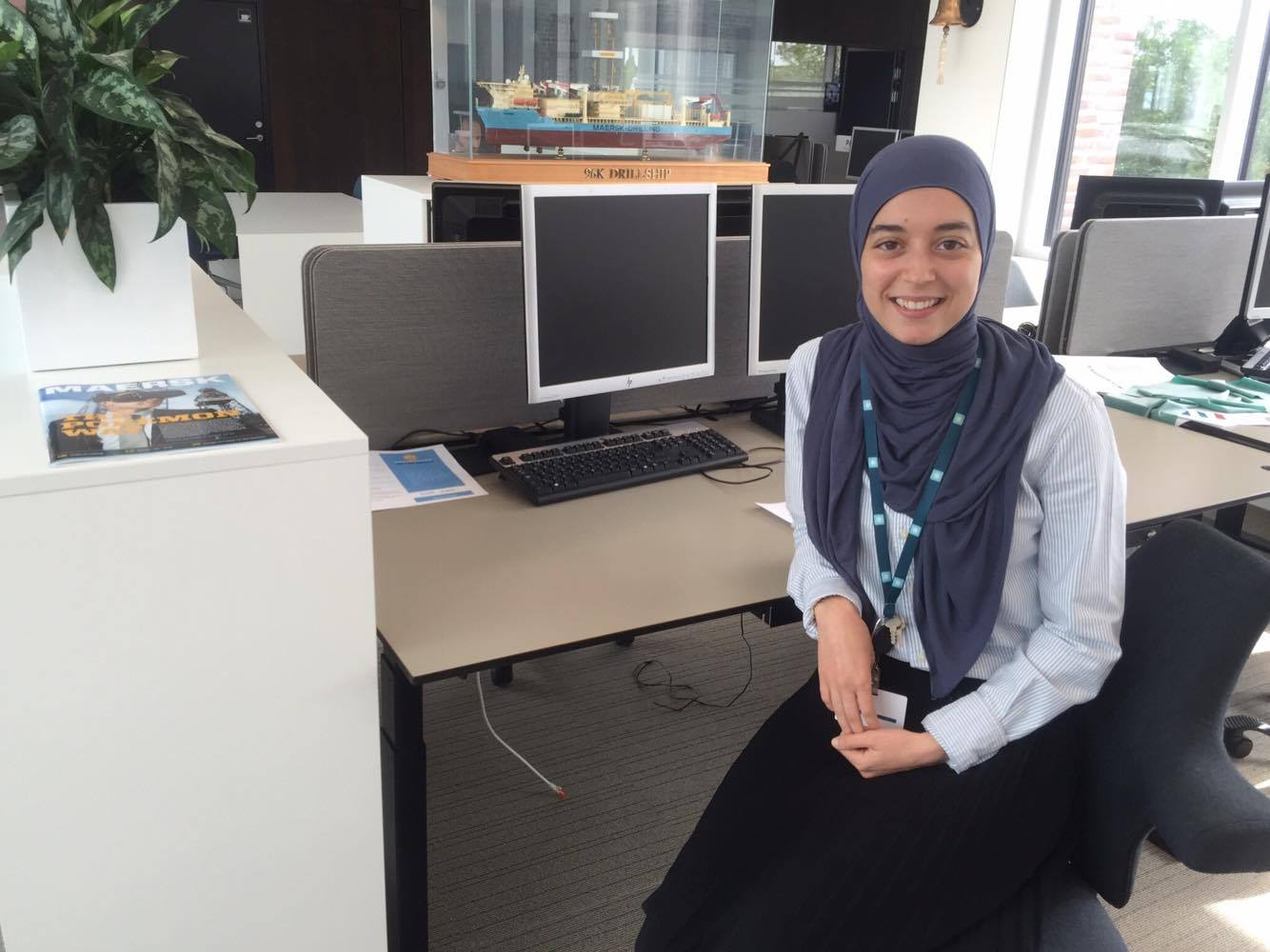 See my student job: Law student Nadia feels at home at Maersk