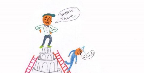 Illustration til artikel om sprogdød på KU