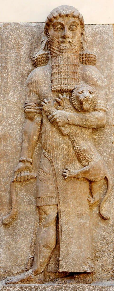 Gilgamesh med løve, Dur-Sharrukin AO 19862, Louvre